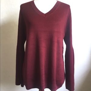 Burgundy Bell Sleeve Sweater Sizes 12, 22, 24